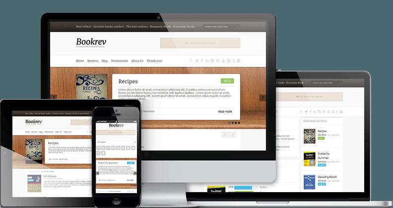 bookrev-showcase-best free wordpress themes 2017