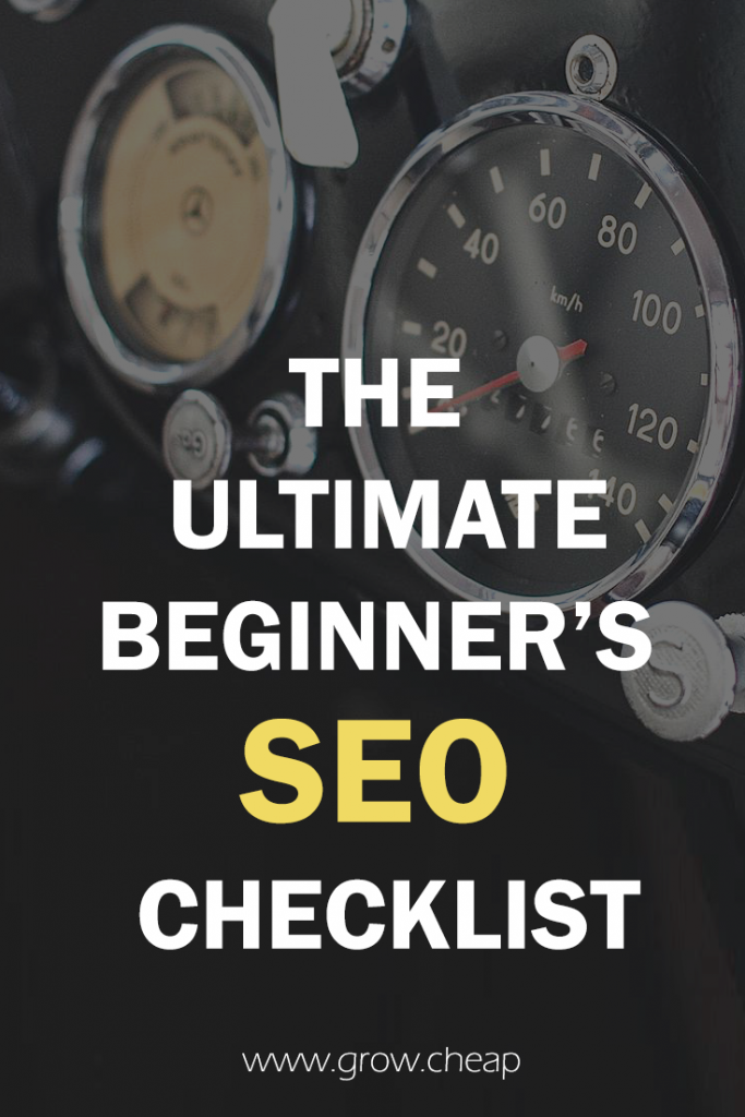 The Ultimate Beginner's SEO Checklist 2018 #SEO #Blogging #Content