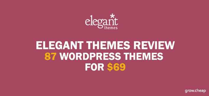 Elegant Themes Review: 87 WordPress Themes for $69