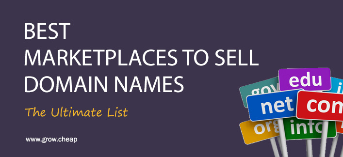 23+ Best Domain Marketplaces To Sell Domain Names #Domain #Flipping #Marketplace