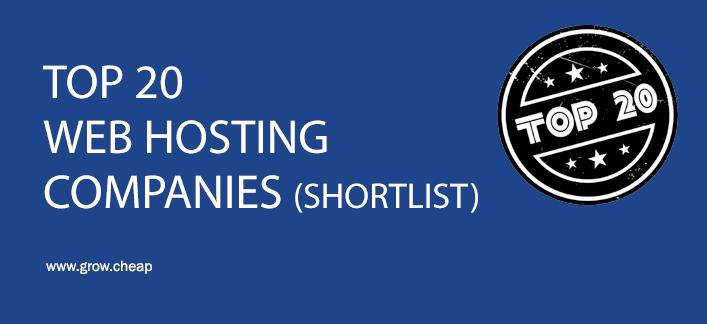 Top 20 Web Hosting Companies (Shortlisted) #WebHosting #Top20 #WordPress