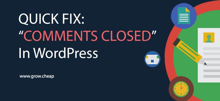 "Quick Fix: ""Comments Closed"" Problem in WordPress #Comments #WordPress #Fix #Discussion"