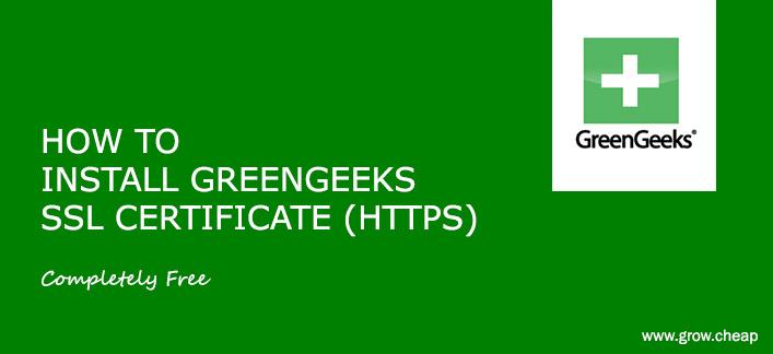 How to Install GreenGeeks SSL Certificate (100% Free) #GreenGeeks #WordPress #SSL