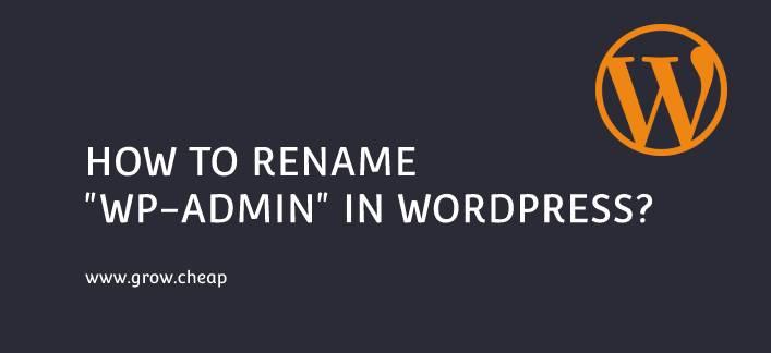 "How To Rename ""wp-admin"" in WordPress (Quick) #wp-admin #WordPress"