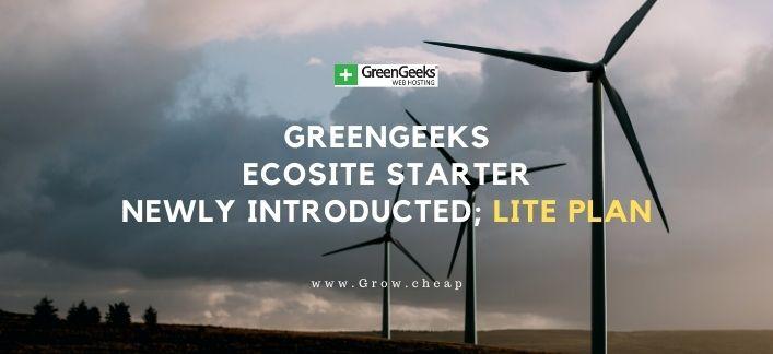 GreenGeeks EcoSite Starter Review: Lite Plan Update